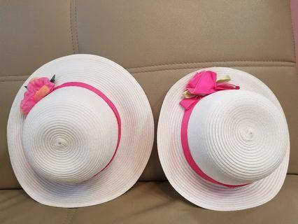 沙灘帽x2