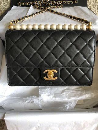 🖤⭐️Chanel Black Rectangular Flapbag with Pearls⭐️🖤