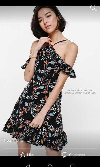 Love Bonito Black floral dress