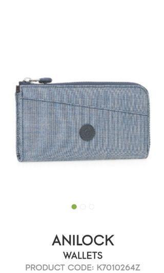 Kipling Anilock Wallet in Denim Blue