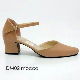 LUBELY Sepatu Wedges (mocca)
