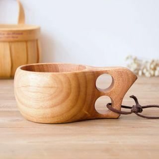 木咖啡杯 Wooden Cup with Dual Ring Holder (200ml)