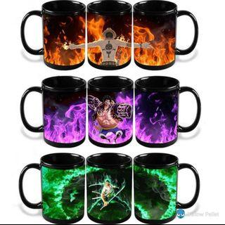 One piece cup mug changing color