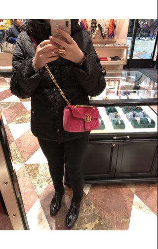 Gucci marmont in Small (light pink)