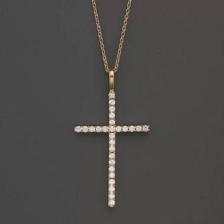 Natural diamonds necklace, 18k gold