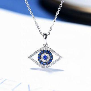 Natural sapphires and diamonds necklace, 18k gold