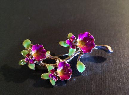 🚚 Orchid Flower Brooch