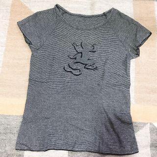 Agnes b 灰色條紋t恤