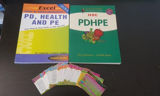 HSC PDHPE reference books and palm cards