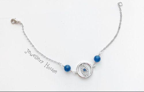 🚚 Beautiful Eye bracelet with natural blue stones