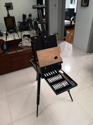 Italian Portable Easel with Painting Tools