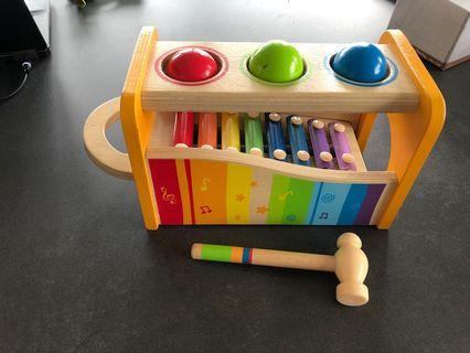 🚚 Wooden baby toddler Toy balls and xylophone