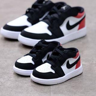 Air jordan 1 low black toe (toddler)
