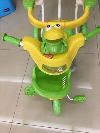 寶寶手推三輪腳踏車(有音樂)