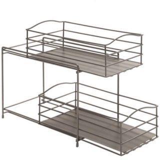 Two Level Sliding Multi-purpose Rack Organiser