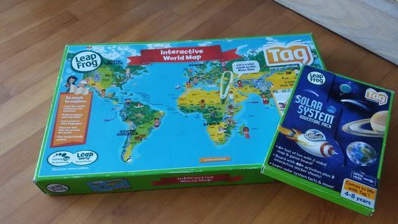 Leap Frog Interactive World Map and Solar System