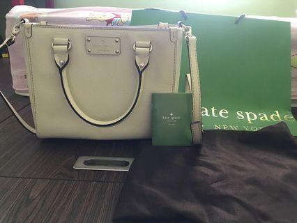 Kate Spade Cream Off White colour handbag (sling or handcarry)
