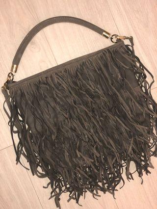 H&M Gray Fringe Bag