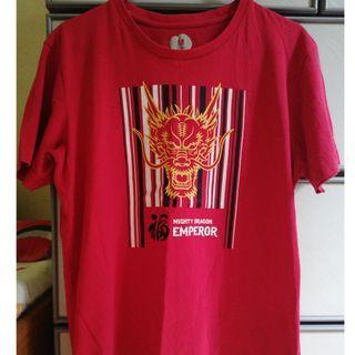 Golden Dragon head red Bossini tee for sale