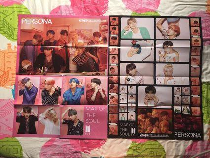 Bts map of the soul : persona black & pink folded version
