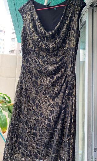 Ralph Lauren精美繡花高級連身裙