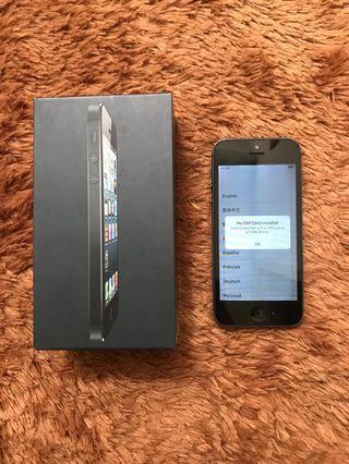 iPhone 5 Black 16Gb Murah iCloud Aman!