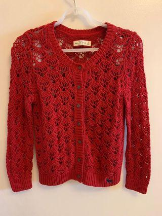 Abercrombie and Fitch Red Cardigan