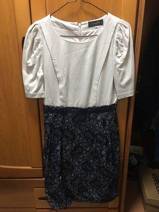 JUSGLITTY 合身蕾絲洋裝