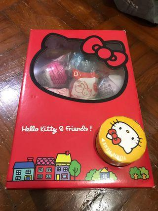Hello kitty and friends 扭蛋機連14隻蛋