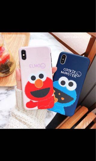 Cookie Monster and Elmo iPhone casing