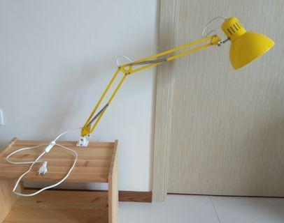 Metal lamp yellow - with bulb - ikea TERTIAL