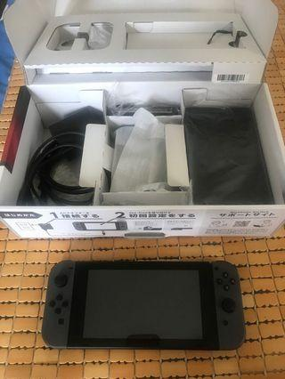 賣 售 任天堂 ns switch 主機 日規 灰色 過保