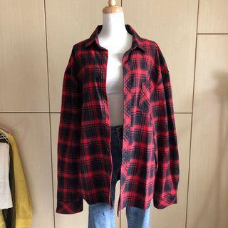版型一級棒美式oversize寬鬆襯衫