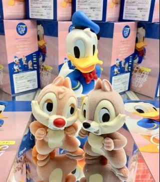 Disney 迪士尼 Fluffy Puffy 奇奇蒂蒂 Chip'n'Dale 景品 萬代 代理版 植絨公仔 BANPRESTO