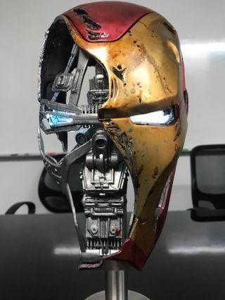 Marvel Avengers Endgame Iron Man Mark 50 Battle Damaged Helmet Prop Replica #endgameyourexcess