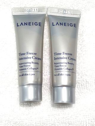 Laneige Time Freeze Intensive Cream 10ml RM6 each