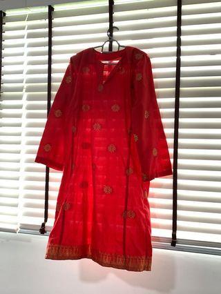 🚚 Red Songket Baju Kurung