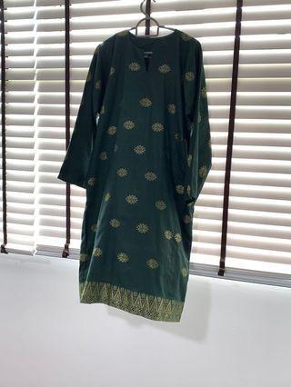 🚚 Green Baju Kurung Songket