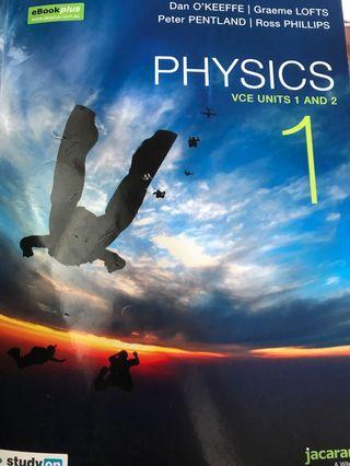 Physics vce units 1 and 2