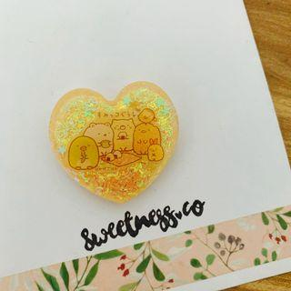 🚚 109 Handmade Sumikko Gurashi heart glitter piece