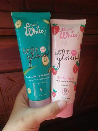 Everwhite mask paket combo (cucumber&strowberry)