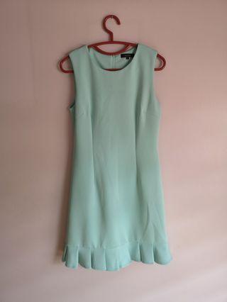 Nichii Turquoise Nylon-Spandex Dress
