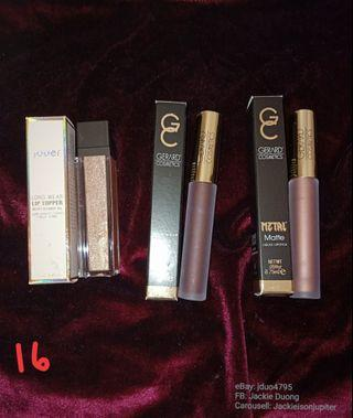 Bundle 16: Jouer 'skinny dip' lip topper, Gerard's dream weaver' metal, 'ruby slipper' matte