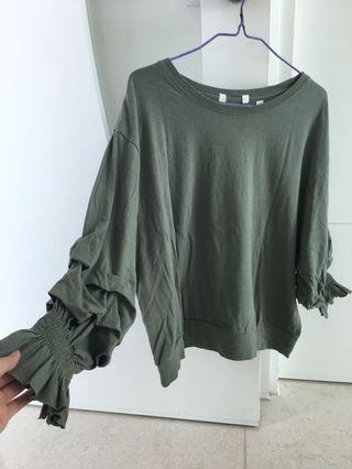 寬鬆衛衣 truffle sleeves top