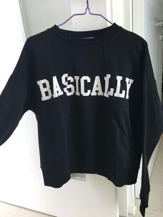 寬鬆衛衣 black pullover sweater