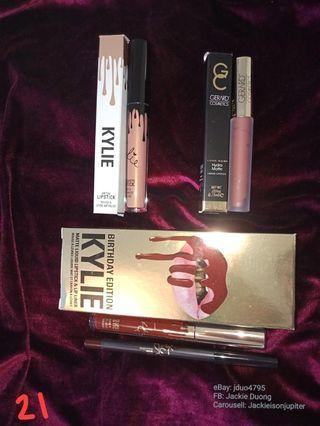 Lipstick bundle 21: Kylie Leo lip kit, 'heir' metallic, Gerard Cosmetics '1995'
