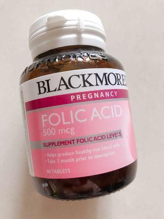Blackmores Folic Acid 500mcg 90粒 葉酸