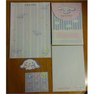 2003年 Cinnamoroll Cn 玉桂狗 Sanrio 信封信紙套裝 (Envelope, Writing Sheet)