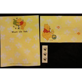 Winnie the pooh 小熊維尼 (BB6) 信封信紙套裝 Disney (Envelope, Notepaper, Letter)
