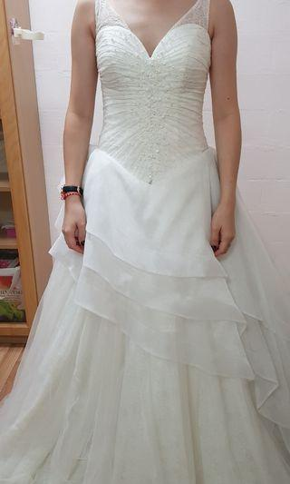 Wedding Gown - ivory colour, free size
